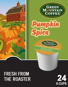 Green Mountain *LIMITED EDITION* Pumpkin Spice Flavored Coffee 5 Box of 24 K-Cups