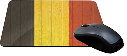 Rikki Knight Belgium Flag on Distressed Wood Design Lightning Series Gaming Mouse Pad (8599 Series)