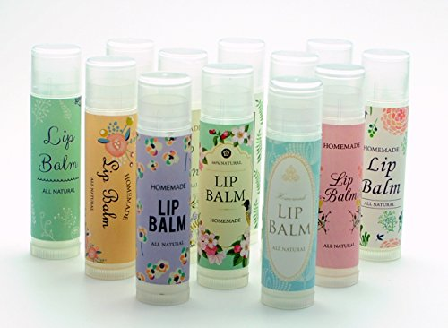 - ZZYBIA 120pcs Assorted Lip Balm Label Sticker for Lip Balm Container Lip Balm Labels Paper Stickers