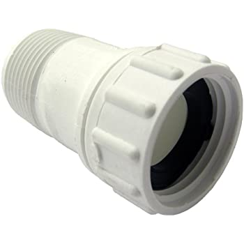 LASCO 15 1627 PVC Swivel Hose Adapter With 3/4 Inch Female Hose And  3/4 Inch Male Pipe Thread