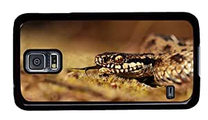 Hipster Samsung Galaxy S5 Case fun viper snake PC Black for Samsung S5