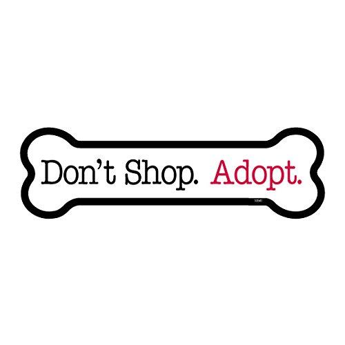 SJT ENTERPRISES, INC. Don't Shop. Adopt. 50-Pack of 2 x 7
