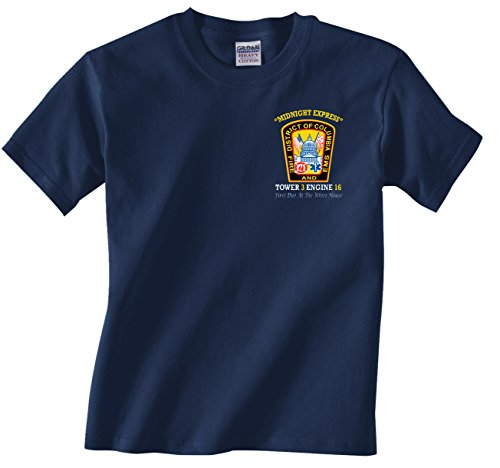 Fishers Sportswear Trump Tower First Due at The White House Firefighter T-Shirt (X-Large)