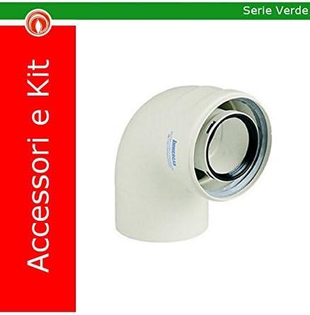 Immergas - Kit curva 90° 3.012093 - Desagüe de humos - Calderas de condensación 60/100