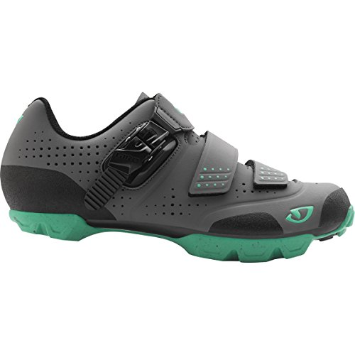 Giro Womens Manta R Dirt Cycling Shoes (Charcoal/Turquoise - 38)