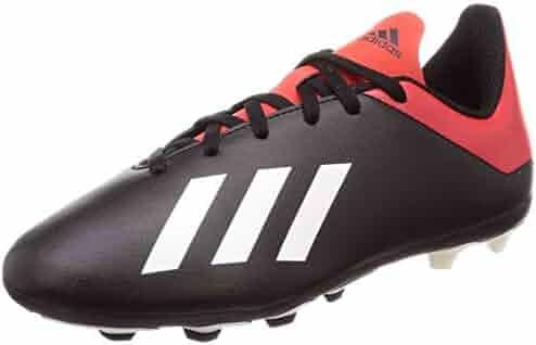 40bcddcab2f adidas X 18.4 FxG Firm Ground Kids Football Soccer Boot Black Red Initiator