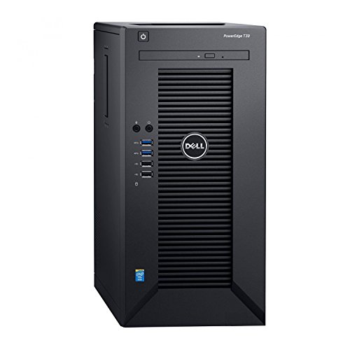 Dell PowerEdge T30 Tower Server – Intel Xeon E3-1225 v5 Quad-Core Processor up to 3.7 GHz, 32GB DDR4 Memory, 2TB (RAID 1) SATA Hard Drive, Intel HD Graphics P530, DVD Burner, No Operating System