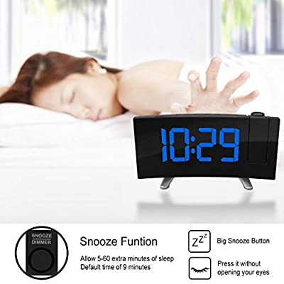LED Time Electronic Table Projector Digital Watch Desk Projection Clock
