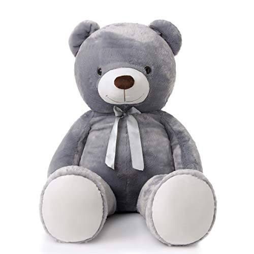 MorisMos Giant Teddy Bear Stuffed Animals Plush Toy for Girlfriend Kids (Gray, 47 Inch)