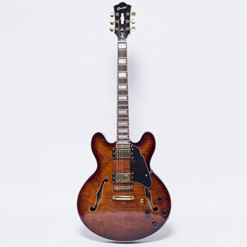 NEW GROTE 335 style Jazz Electric Guitar Flame Maple top