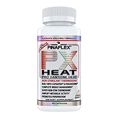 PX HEAT, 90 Capsules, Ultimate Stimulant Free Formula, Non Stim Weight Loss, Thermogenic Fat Burner, Increase Resting Metabolism, Caffeine Free Formula