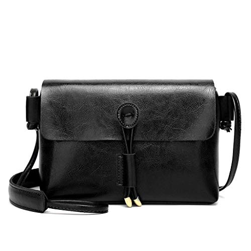 Cell Phone Purses and Handbags Miuye Soft Leather Crossbody Bag Flap Hollow Shoulder Bag with Tassel Evening Bag