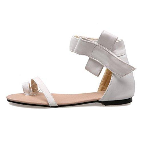 Coolcept Mujer Plataforma Sandalias Loop Toe White