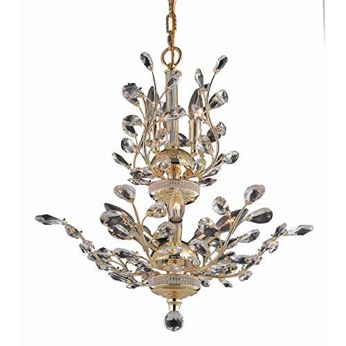 Elegant Furniture Orchid 8 Light Gold Chandelier Clear Swarovski Elements - Light Orchid 8 Chandelier
