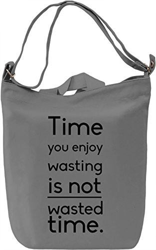 Enjoy Time Borsa Giornaliera Canvas Canvas Day Bag| 100% Premium Cotton Canvas| DTG Printing|