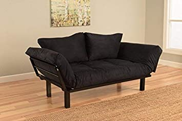 Amazon.com: Best Futon Lounger Sit Lounge Sleep Smaller Size Furniture Is Perfect For College Dorm Bedroom Studio Apartment Guest Room Covered Patio Porch. Key Kitty Key Chain Included. (Black): Kitchen & Dining