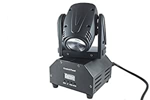 Luz led rgb cabeza giratoria mesa de luz de flash efectos de disco