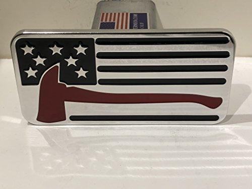 (USA FLAG FIREMAN AX BLACK HITCH COVER)