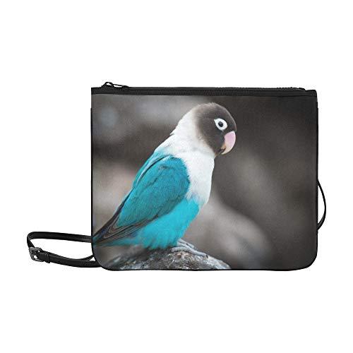 Birds Fly Animal Blue White Black Beak Pattern Custom High-grade Nylon Slim Clutch Bag Cross-body Bag Shoulder Bag