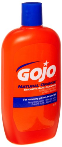 GOJO NATURAL ORANGE Smooth Hand Cleaner, 14 fl oz Quick-Acting Lotion Hand Cleaner Flip Cap Squeeze Bottle - 0947-12