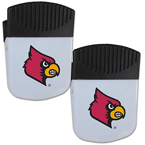 Siskiyou NCAA Louisville Cardinals Chip Clip Magnet with Bottle Opener, 2 Pack ()