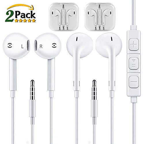Earbuds,Apple Earphones,XUYAO In Ear Headphones With Mic & Remote,Stereo Sound Noise Cancelling Headsets for Apple iPhone 6 plus/6/5s/5 iPad iPod Samsung Galaxy S7/S6 and More IOS/Android Smartphones
