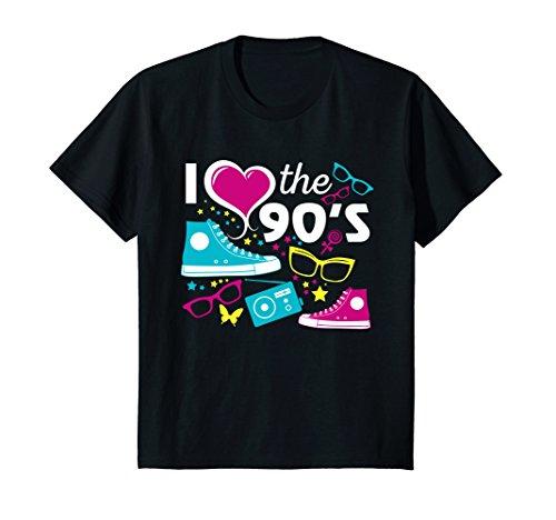 Kids I Love The 90S Eighties T Shirt 12 Black