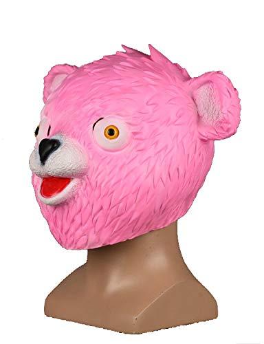 ハロウィンコスチュームマスクラテックスおもちゃ動物ヘッドマスクフェスティバルパーティー(クマ)