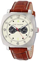 Ted Baker Men's TE1105 Sport Multi-Function Stainless Steel Watch with Leather Band