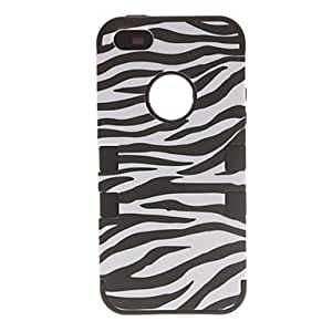 3-in-1 Design Zebra Print Pattern Protective Case for iPhone 5/5S (Assorted Colors) , Rose