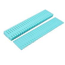 uxcell® Plastic Home Adjustable Separator Grid Tidy Long Dresser Drawer Storage Organizer Dividers 8 Pcs Blue