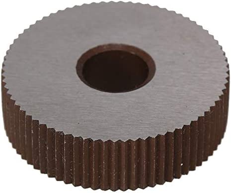 NO LOGO Rändelwerkzeug 2ST Stärke 0.6mm Rad Rändel Wälzfräser geradfaserig HSS Rad Knurled Werkzeugmaschinen Zubehör Dreh Prägeradabschnitt