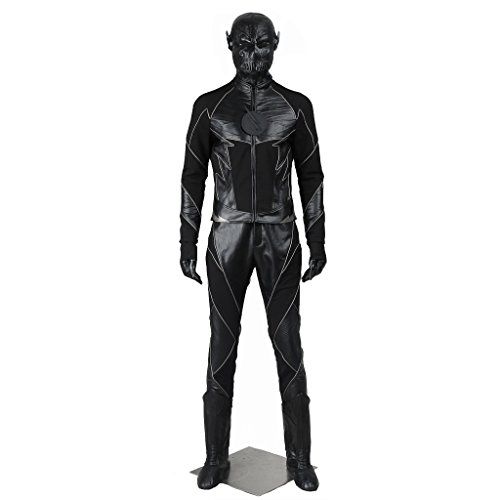 CosplayDiy Men's Suit for The Flash: Zoom Hunter Zolomon Villain Cosplay S (The Flash Cw Costume)