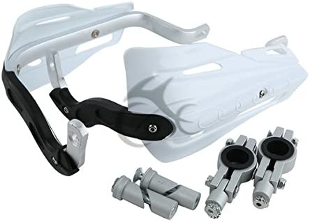 TCMT White 7//8 22mm Handlebar Hand Brush Guard Handguards Fits For YAMAHA DT250 TTR225 TTR230 WR250 WR250F
