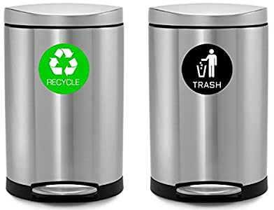 I Have Two Identical Bins That We Use In The Kitchen To Put Trash In One  And Recycling In The Other. I Previously Used Magnets To Identify Them, ...