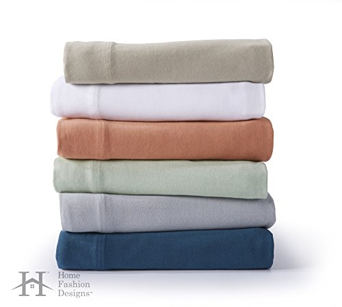 Zimmer Collection Extra Soft Jersey Knit Sheet Set. 100% Cotton Luxury Bed Sheets in Solid Colors. By Home Fashion Designs Brand. (Twin XL, White)
