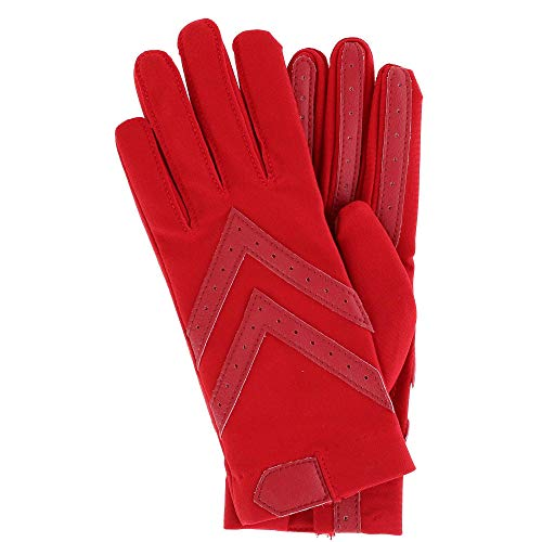 (Isotoner Short Tech Touch Driving Gloves, Red, Small/Medium)