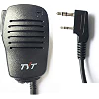 TYT Tytera Remote Speaker Mic Microphone for MD-380 & MD-390 Waterproof Digital Radio, for 10-Watt UV8000E Two-Way Radio, for WouXun KG-D901, Baofeng Puxing Kenwood Black