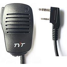 TYT Tytera Remote Speaker Mic Microphone for MD-380 & MD-390 Waterproof Digital Radio, for 10-Watt UV8000E Two-Way Radio, for WouXun KG-D901, Baofeng Puxing Kenwood Black