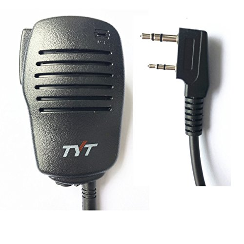 Hand Mic (TYT Tytera Remote Speaker Mic Microphone for MD-380 & MD-390 Waterproof Digital Radio, for 10-Watt UV8000E Two-Way Radio, for WouXun KG-D901, Baofeng Puxing Kenwood Black)