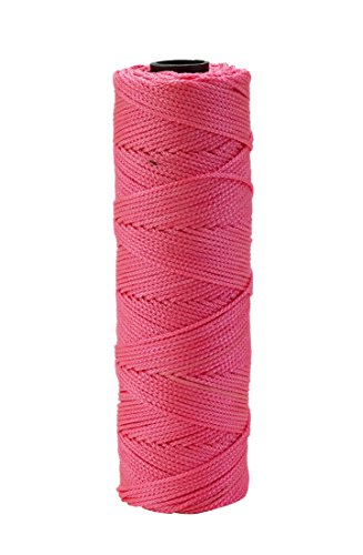 Mutual Industries 14661-175-275 Nylon Mason Twine, 1/4 lb. Twisted, 18 x 275', Glo Pink (Pack of 6) by Mutual Industries