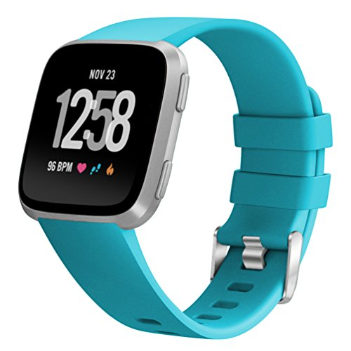 ImmSss Sport Silicone Band Compatible for Fitbit Versa for Women Men Small Large,16 Colors