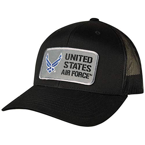 Medals of America U.S. Air Force Trucker Hat with Mesh Back Black Hat S/M