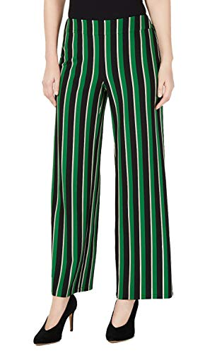 INC International Concepts Pull-On Striped Wide-Leg Pants (Emerald High Point, M) (Best And Less Highpoint)
