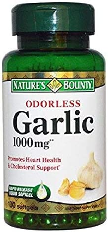 Nature s Bounty Garlic Extract 1000 mg, 100 Rapid Release Softgels