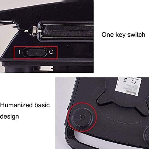 ZXLRH Gaufrier, 4 en 1, plaques Amovibles antiadhésives, contrôle Automatique de la température, Conception à Interrupteur à Un Bouton, Nettoyage Facile