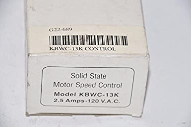 Solid State Motor Speed Control Model KBWC-13K 2.5 Amps-120 V.A.C