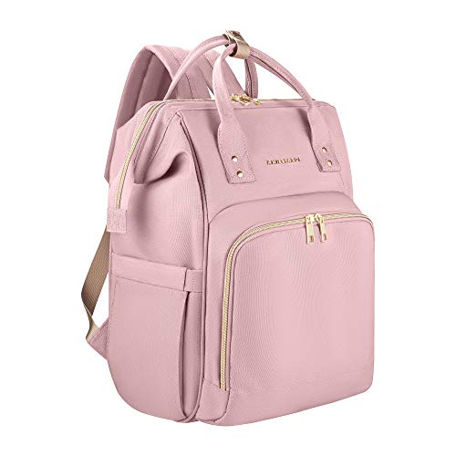 Amilliardi Large Capacity Fashion Diaper Bag Backpack – 4 Insulated Bottle Holder Up to 11 Oz Baby Bottles - Stroller Straps– Multi-Function - 10 Divisions - Nappy Bag Organizer(Blush/Light -