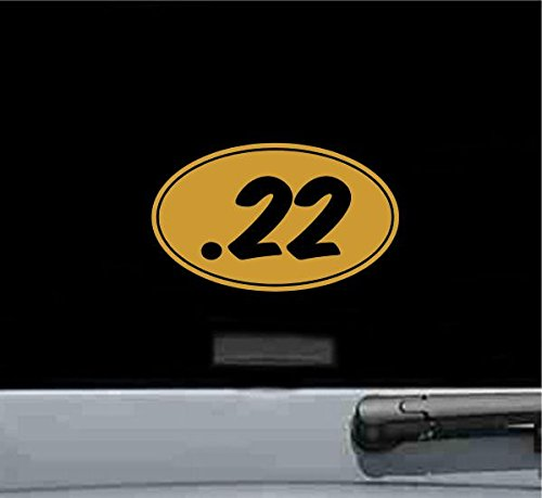 .22 oval style5 Vinyl Decal Sticker (GOLD)