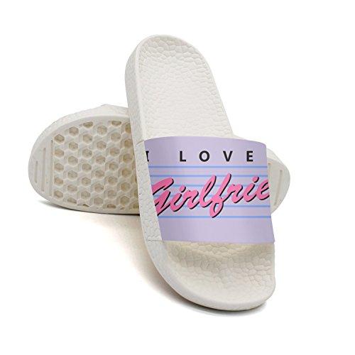 GKEPJYVCK I Love My Girlfriend Valentine's Day Crazy Girlfriend Men's Slippers Low Top Cool White by GKEPJYVCK (Image #1)
